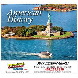 Great Symbols of American History Wall Calendar  Stapled