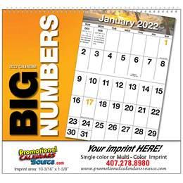 Big Blocks and Big Numbers Scenic Calendar Spiral