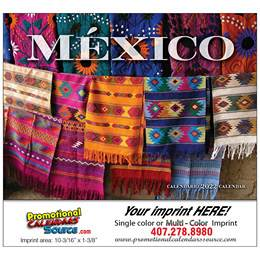 Mexico Promotional Wall Calendar  Stapled