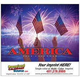 America Promotional Calendar  - Stapled