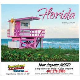 State of Florida Promotional Wall Calendar  Stapled