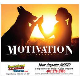 Motivation Wall Calendar  Stapled