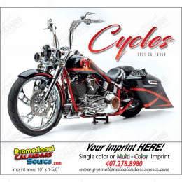 Custom Motorcycles Promotional Calendar  Stapled