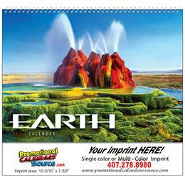 Earth Promotional Calendar  - Spiral