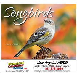 Nature's Songbirds Promotional Calendar  Stapled
