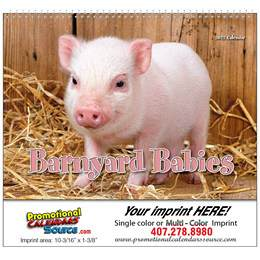 Barnyard Babies Animal Calendar Stapled