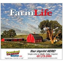 Farm Life Wall Calendar Stapled