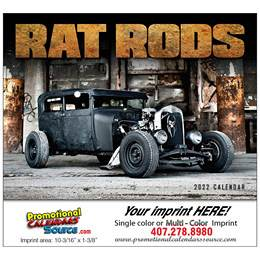 Rat Rods Automotive Calendar Stapled