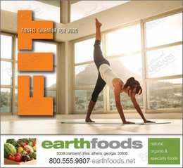 Fitness Wall Calendar  Stapled