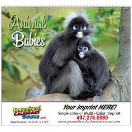 Animal Babies Promotional Calendar  - Spiral