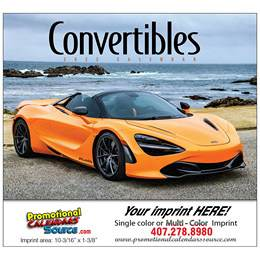 Convertible Cars Promotional Calendar, , Stapled