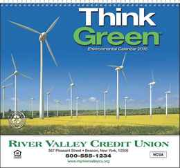 Think Green Promotional Calendar  - Spiral