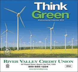 Think Green Promotional Calendar  Stapled
