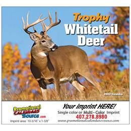 Whitetail Deer Wall Calendar  Stapled