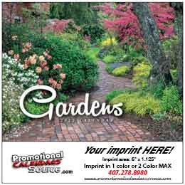 Gardens Mini  Promotional Wall Calendar
