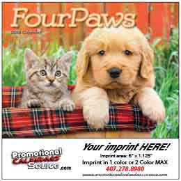 Four Paws Mini Promotional Wall Calendar