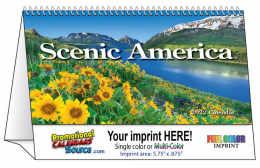 Scenic America Tent Desk Calendar