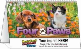 Four Paws Tent Desk Calendar