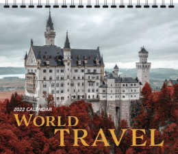 World Travel Scenic Wall Calendar, 13.5x24