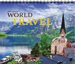 World Travel Scenic Wall Calendar, 13.5x24