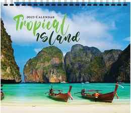 Tropical Island Scenic Calendar, 13.5x24