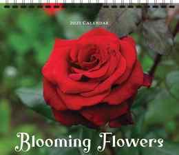 Blooming Flowers Calendar, 13.5x24, Spiral