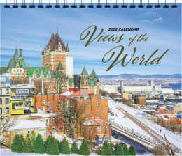 Scenic Spiral Wall Calendar Views of The World, 12.25x22