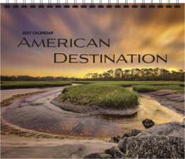 Scenic Wall Calendar American Destinations, 12.25x22