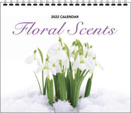 Floral Scents Promo Wall Calendar, 12.25x22, Spiral