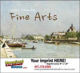 Fine Arts Promo Calendar  - Stapled