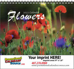Flowers Splendor Calendar w Spiral Binding