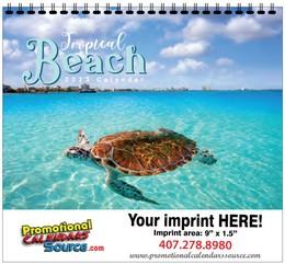 Topical Beaches Calendar w Spiral Binding