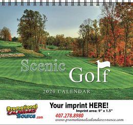 Scenic Golf Courses Calendar w Spiral Binding