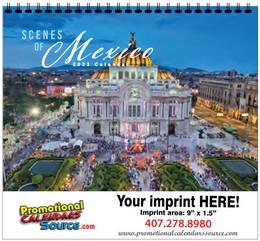 Conozca Mexico Calendar w Spiral Binding