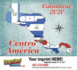 Centro America Calendario Bilingue - Central America, 11x19