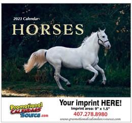 Horses, Animal Calendar 2022, Stapled