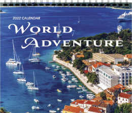 Scenic 3-Month View Calendar World Adventure 13.5x25.5