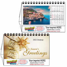 Scenic Desk Calendar with World Images