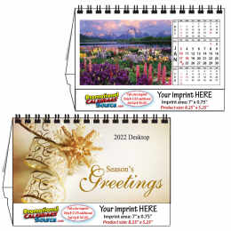 Gardens Views Desk Tent Calendar