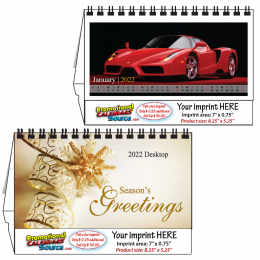 Sports Cars Desktop Calendar