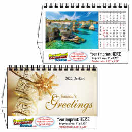 Tropical Island Desktop  Calendar