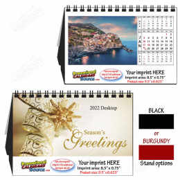 Scenic World Images Large Desk Tent Calendar