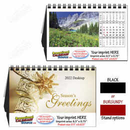 Scenic Beautiful America Large Desk Tent Calendar