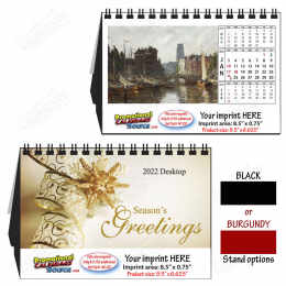 Fine Arts Large Tent Desk Calendar, 9.5
