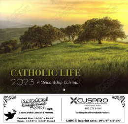 Catholic Life Calendar Stewardship Calendar with Funeral Preplanning insert option
