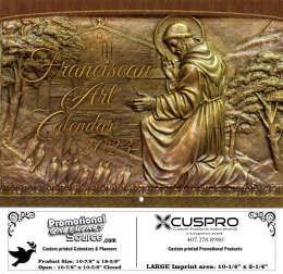 Franciscan Art Calendar Catholic Calendar with Funeral Preplanning insert option