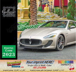Exotic Cars Value Calendar Stapled