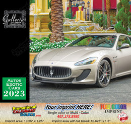 Exotic Cars Bilingual Calendar English/Spanish