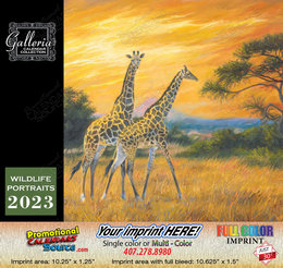 Wildlife Portraits Art Calendar