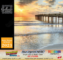 Beaches, Sun and Ocean Views Calendar